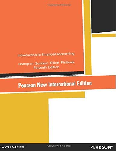 Introduction to Financial Accounting:Pearson New International Edition de Pearson
