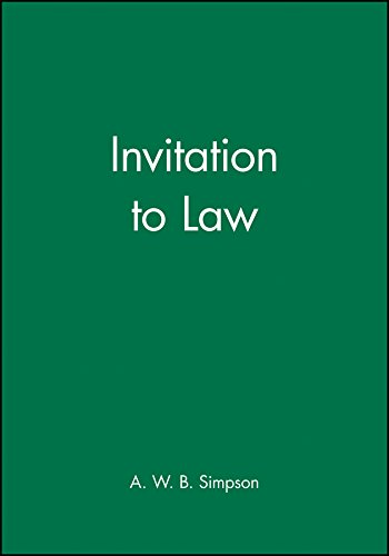Invitation to Law de Wiley-Blackwell