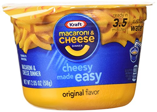 KRAFT Macaroni & Cheese Dinner Cup Easy Mac Original, 58 grams Cups (Pack of 12) de Kraft