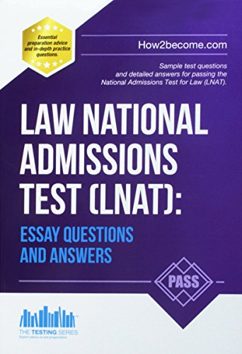 Law National Admissions Test (LNAT): Essay Questions and Answers de How2Become Ltd
