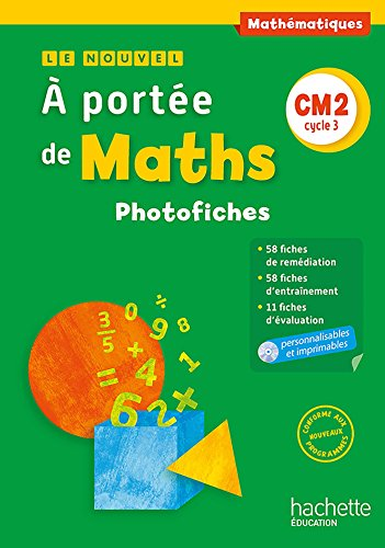 Le Nouvel A portée de maths CM2 - Photofiches + CD - Ed. 2016 de Hachette Éducation