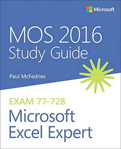 MOS 2016 Study Guide for Microsoft Excel Expert de Microsoft Press