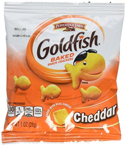 Pepperidge Farm Cheddar Goldfish Crackers, 45 - 1oz Pouches de Pepperidge Farms