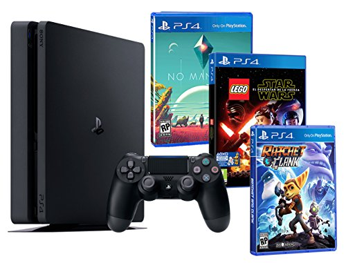 Playstation 4 PS4 Slim 1To ENFANTS PACK 3 jeux! Lego Star Wars: le Réveil de la Force + Ratchet & Clank + No Man's Sky de Sony Playstation 4