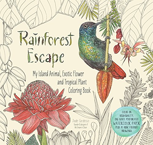 Rainforest Escape: My Island Animal, Exotic Flower and Tropical Plant Coloring Book de Page Street Publishing Co.