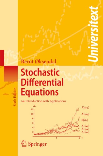 Stochastic Differential Equations: An Introduction with Applications (Universitext) de Springer