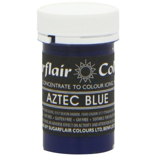 Sugarflair AZTEC BLUE Pastel Paste Gel Edible Concentrated Food Icing Colouring