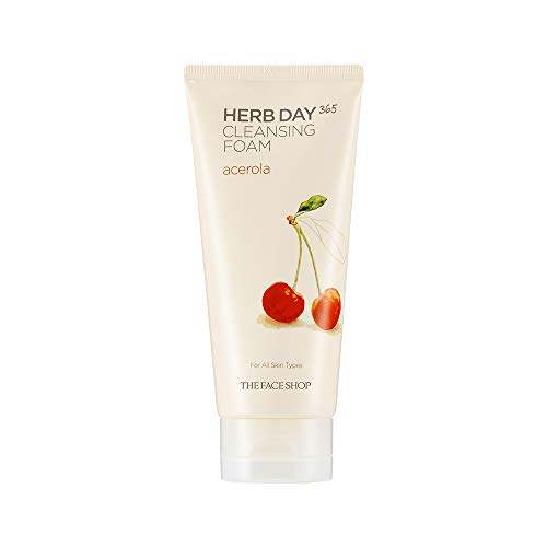 The Face Shop Herb Day Cleansing Cleansing Foam (Acerola) 170ml/Made in Korea by The Face Shop de The Face Shop