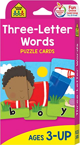 Three-Letter Words: Puzzle Card de School Zone