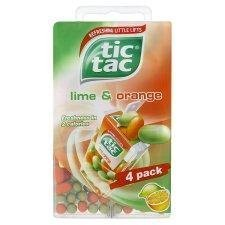 Tic Tac Lime and Orange 4 Bag - Pack of 6 by Tic Tac
