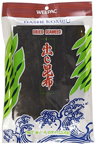 Wel-pac Dashi Kombu Dried Seaweed (Pack of 4)