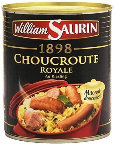 William Saurin Choucroute Royale au Riesling Boîte de 800g de William Saurin