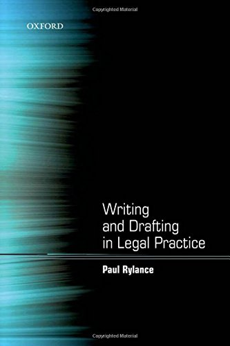 Writing and Drafting in Legal Practice de OUP Oxford