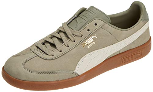 Puma Madrid NBK, Sneakers Basses Mixte Adulte, Gris (Elephant Skin-Whisper White 01), 39 EU de Puma