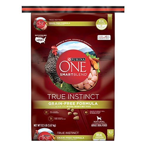 Purina ONE SmartBlend Dry Dog Food, True Instinct, Grain Fee Formula with Chicken & Sweet Potato, 12.5-Pound Bag, Pack of 1 by Purina ONE de Purina One