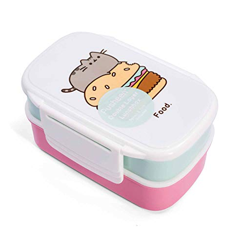 Pusheen PUSHLBOX2 Lot de 2 Boîte à Pain Enfichable, Plastique, Multicolore, 13 x 20 x 9,5 cm de Pusheen