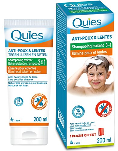 Quies - Shampoing traitant 3 en 1 Elimine Anti Poux et Lentes - 200 ml de Quies