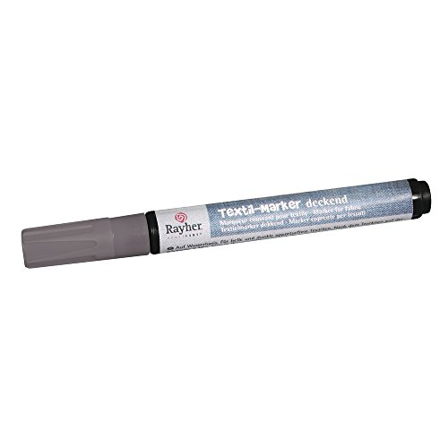 Rayher Hobby  35000606 Marqueur textile   couvrante pointe ogive 2 4 mm avec Valve argent de RAYHER HOBBY