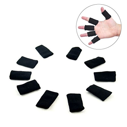 Rosenice 10 pcs Finger Sleeves support élastique respirant pouce Brace  Protector pour basket-ball volley 63395d581162