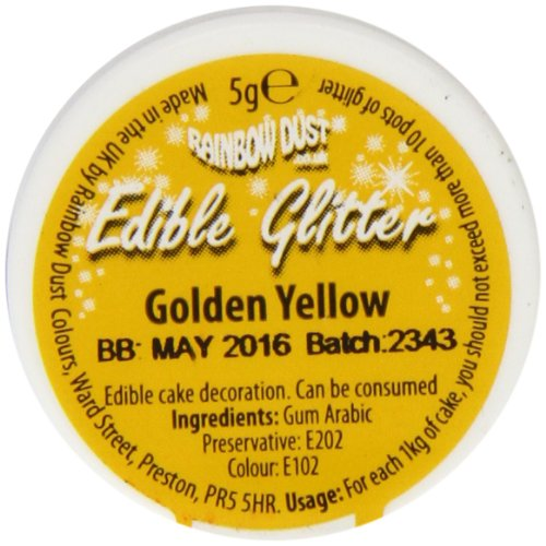 Rainbow Dust Edible Glitter Golden Yellow de Rainbow Dust