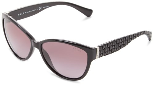 RALPH Womens 0RA5138 501/T3 Sunglasses, Black/Polargraygradient, 58 Ralph Lauren