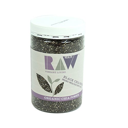 RAW Health Organic Black Chia Seeds 450g de Raw Health