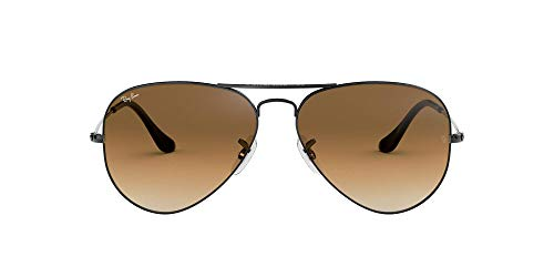 fad4610559adf7 Ray-Ban Lunettes de Soleil - RB3025 Aviator Metal Aviator 58 mm, Argent