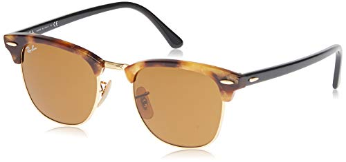 5fabc3bc3bb397 Ray-Ban RAYBAN homme CLUBMASTER 1160 Montures de lunettes, Marron (Spotted  Brown Havana