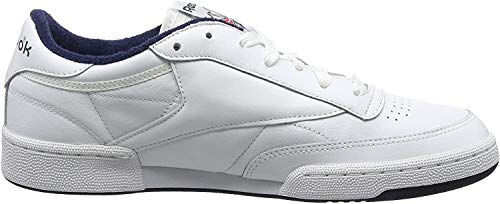 Reebok Club C 85 Archive, Sneakers Basses Homme, Blanc (White/Collegiate Navy/Excellent Red), 43 EU de Reebok