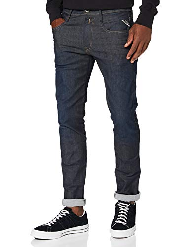 Replay Anbass - Jeans Homme Stretch, Bleu (Blue Denim 7), W33/L32 de Replay