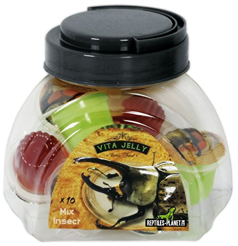 REPTILES PLANET Nourriture Vita Jelly Mix Insectes 10 Pièces de Reptiles Planet