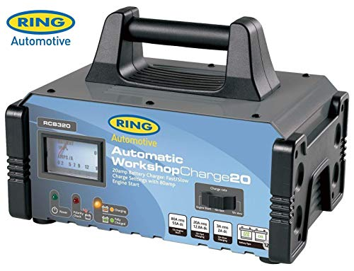 Ring Automotive rcb320 Chargeur de Batterie entièrement Automatique/Moteur Start Étui en métal, 12 V, 20/80 A de Ring Automotive
