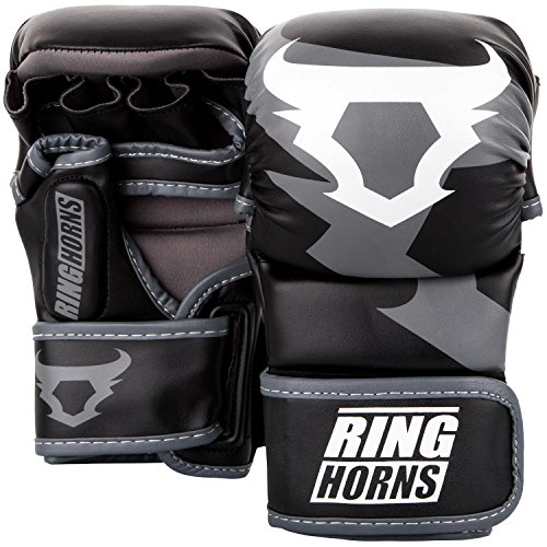 Ringhorns Charger Gants de MMA Mixte Adulte, Noir, L/L/XL de Ringhorns