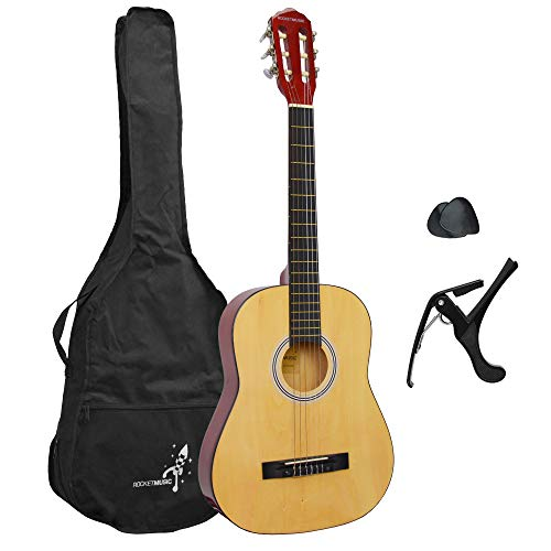 ROCKET CG12BL - Guitare classique Pack guitare 3/4 naturel de Rocket