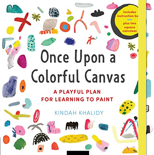 Once upon a Colorful Canvas: A Playful Plan for Learning to Paint: Includes Instruction Book Plus Two Square Canvases de Rockport Publishers Inc.