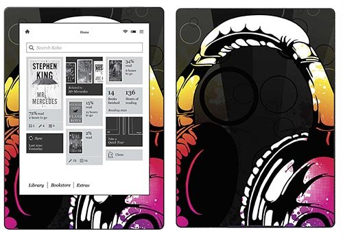 Royal Sticker RS.116851 Autocollant pour Kobo Aura H2O Motif Headphones de Royal Sticker