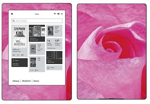 Royal Sticker RS.119625 Autocollant pour Kobo Aura H2O Motif Une Rose de Royalsticker