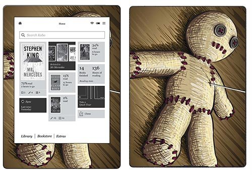 Royal Sticker RS.119707 Autocollant pour Kobo Aura H2O Motif Voodoo Doll de Royal Sticker