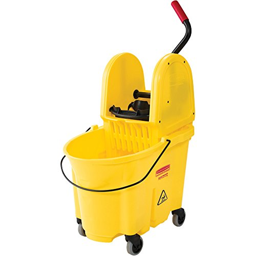 Rubbermaid Commercial Products FG757788YEL Système de Lavage Hautes Performances avec Combo de Presse 33,12 L Wavebrake, Jaune de Rubbermaid Commercial Products