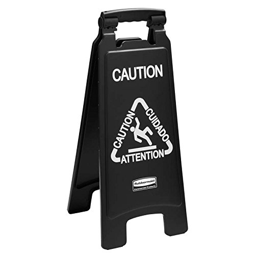 Rubbermaid 1867505–004 aux deux faces complémentaires Caution Sign (Lot de 4) de Rubbermaid