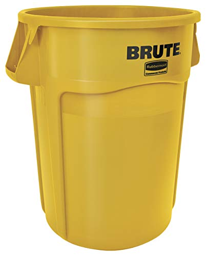 Rubbermaid Commercial Products FG264360YEL Conteneur Brute, 166,5 L, 61 cm de diamètre de Rubbermaid Commercial Products