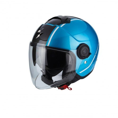 SCORPION Casque Motocorpion BELFAST Mission Noir//Vert//Orange Taille L