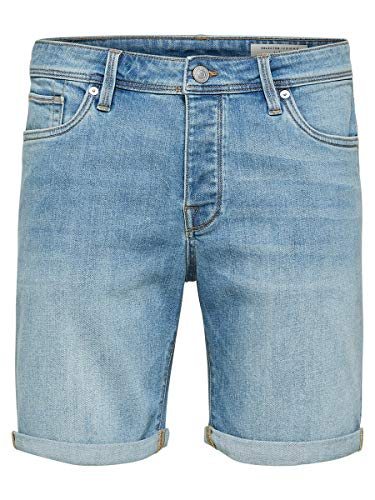Selected Homme Shnalex 312 Lt St Shorts STS, Bleu Light Blue Denim, 52 (Taille Fabricant: Large) Homme de SELECTED FEMME