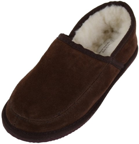 Suede With Wool Lining and Rubber Sole - Chaussons mixte adulte - Marron - Marron - 43.5 EU (9 UK)SNUGRUGS bj2M23mwvw