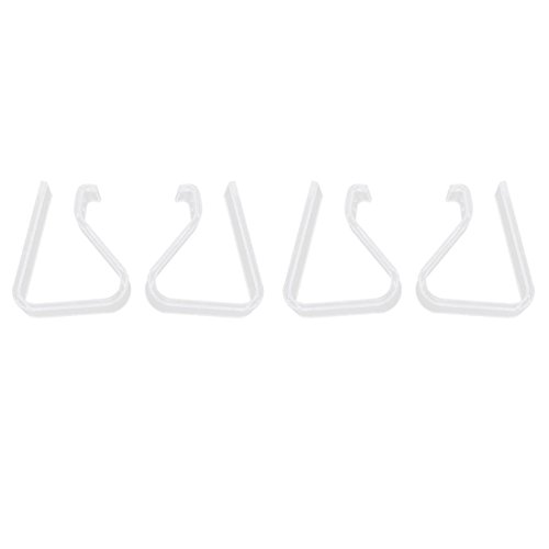 SODIAL(R) 4 Pcs Domicile Parti Plastique Transparent 20mm-35mm Bureau Nappe de table Clips de SODIAL(R)