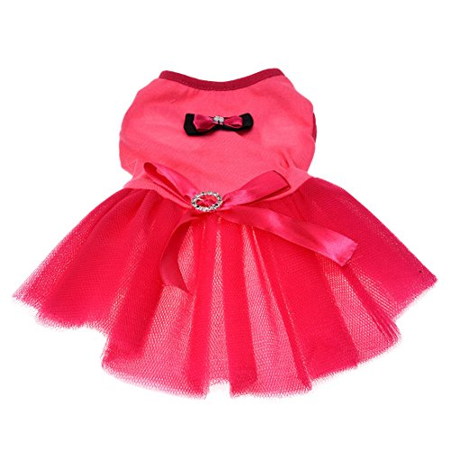 SODIAL(R) Tutu Rose Robe Courroie De Petit Animal De Compagnie Chien Chat M de SODIAL(R)