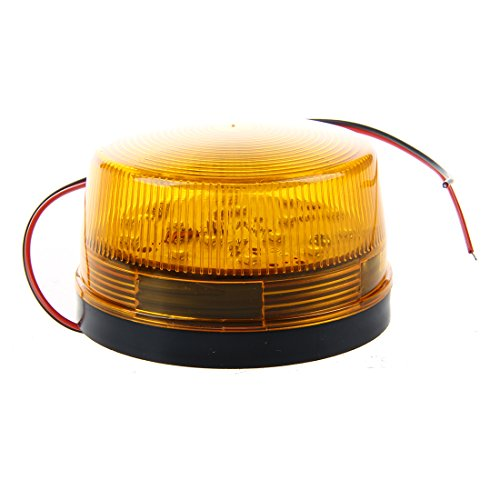 SODIAL 12V Signal de strobe d'Alarme de Securite, LED Lumiere Clignotant de d'Avertissement de Securite Bleu/Rouge Orange de SODIAL