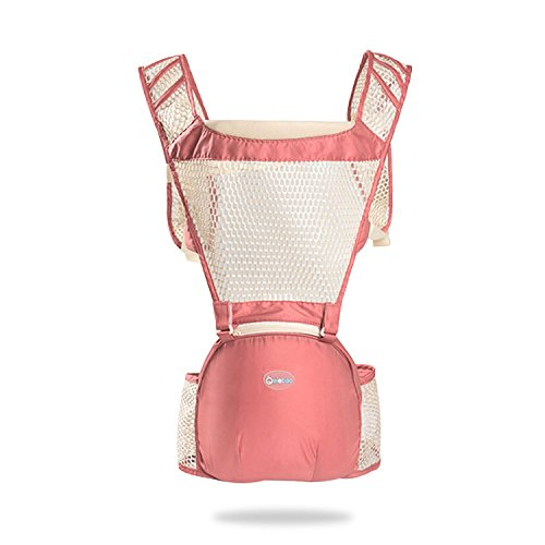 SONARIN All-Hollow Transpirable multifonctionnel Hipseat Baby Carrier Porte-bébé,avant,Ergonomique,6 positions de transport,Adapté à la croissance de votre enfant,100% GARANTIE, cadeau idéal(Rose) de SONARIN
