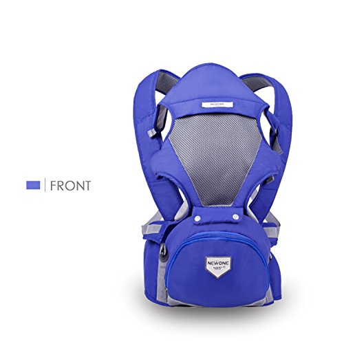 SONARIN Avant Multifonctionnel Hipseat Baby Carrier,Porte-bébé,Support en mesh respirant, Sauvegarder l'effort,taille unique,Confortable et apaisant pour les bébés,100% GARANTIE,Idéal Cadeau(Bleu) de SONARIN