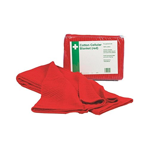 Safety First Aid Q2024 Hypaguard Cellular Couverture, Rouge de Safety First Aid